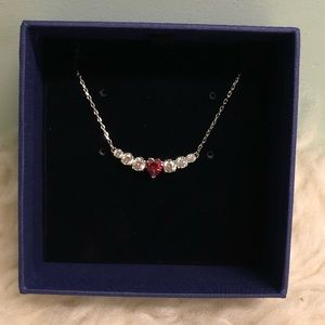 Swarovski Love Necklace: Rhodium Plated (PM118)